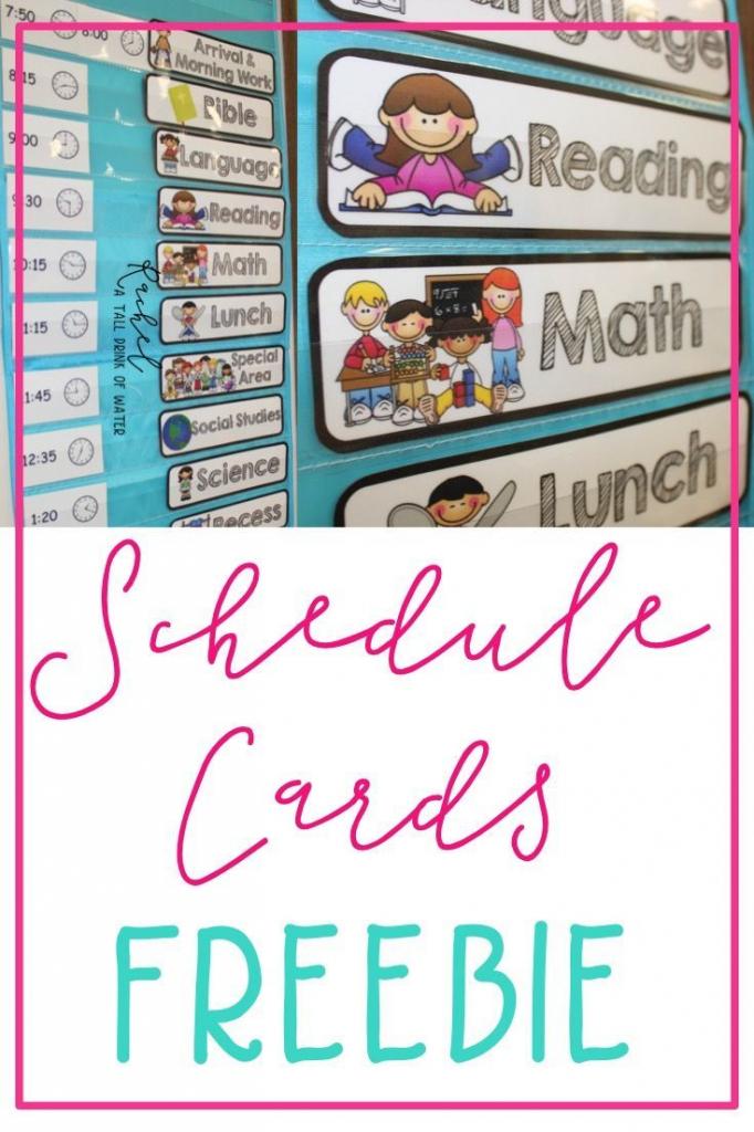 Freebie Schedule Cards   Classroom (When I Go Back :)   Classroom   Free Printable Picture Schedule Cards