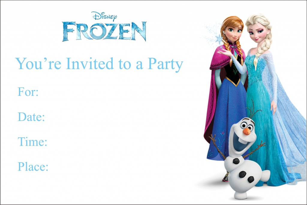 Frozen Free Printable Birthday Party Invitation Personalized Party   Free Printable Personalized Birthday Invitation Cards