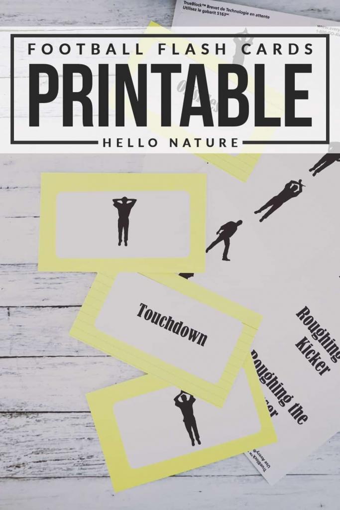 Fun Football Flash Cards Printable | Pinlikecrazy | Printable Football Referee Game Cards