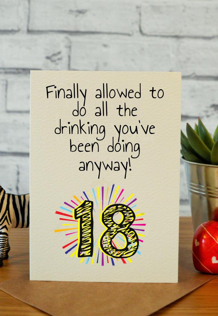 Funny 18Th Birthday Cards, 18Th Birthday Gifts, 18Th Gift Ideas   Funny 18Th Birthday Cards Printable