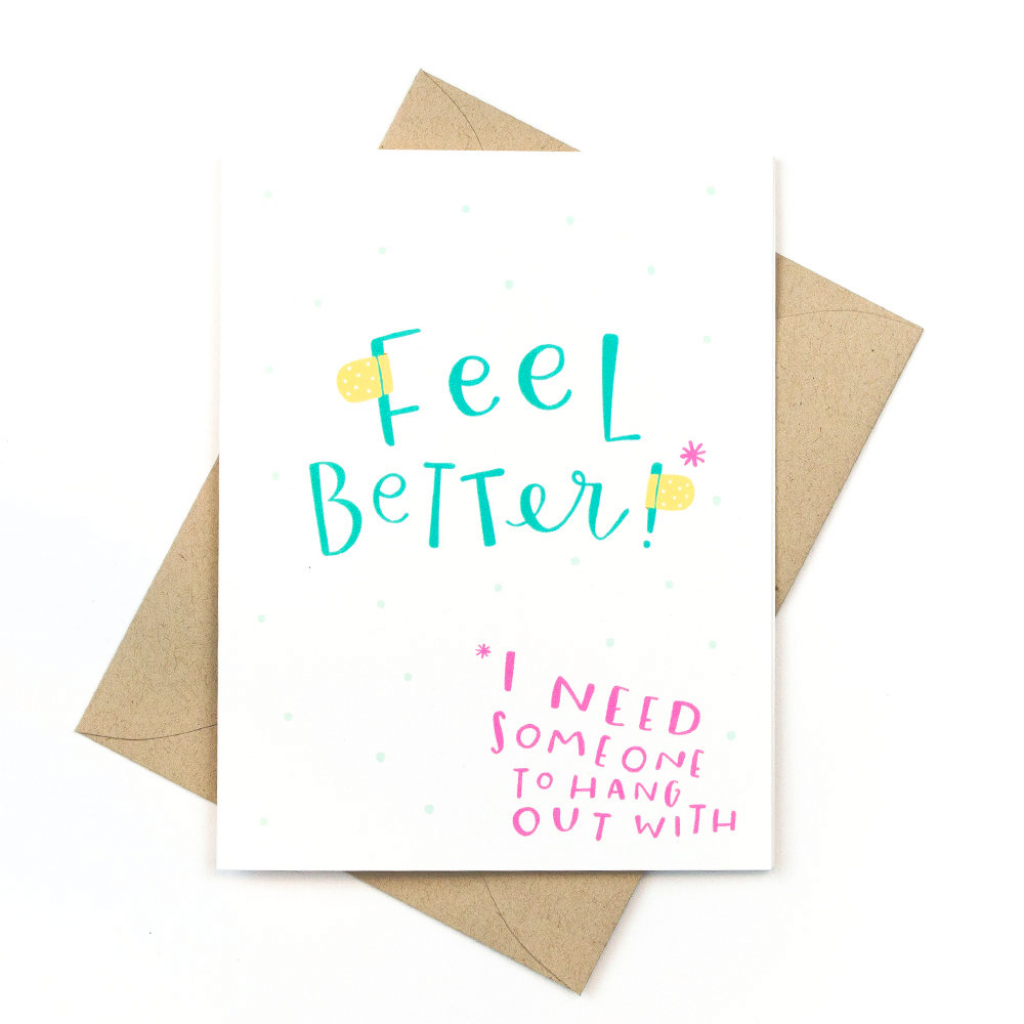 Funny Get Well Card - Pinwheel Print Shop | Feel Better Card Printable