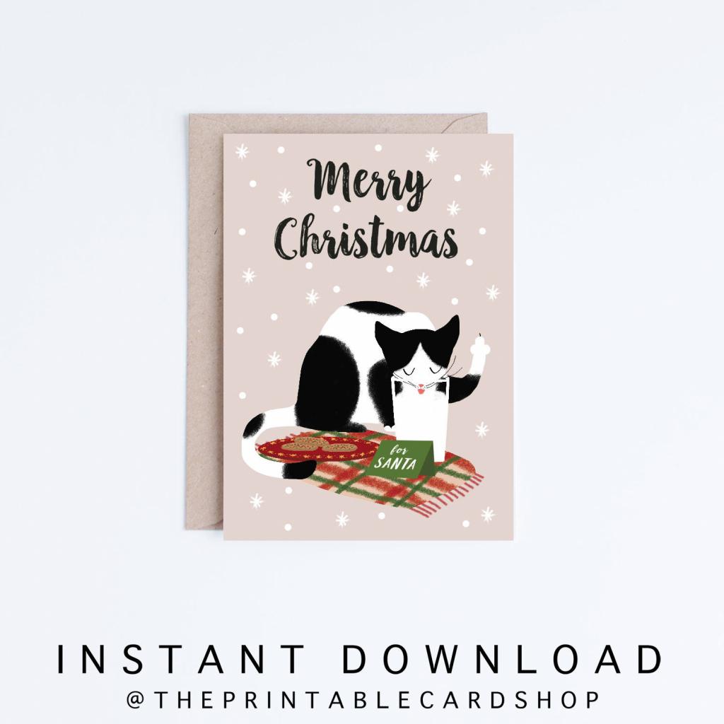 Funny Holiday Card Printable Christmas Cards Instant | Etsy | Funny Printable Christmas Cards