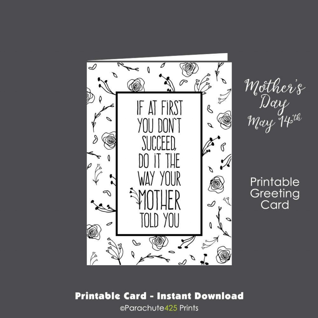 Funny Mom Card, Printable Mom Card, Funny Mothers Day, Mothers Day   Printable Birthday Cards For Mom Funny