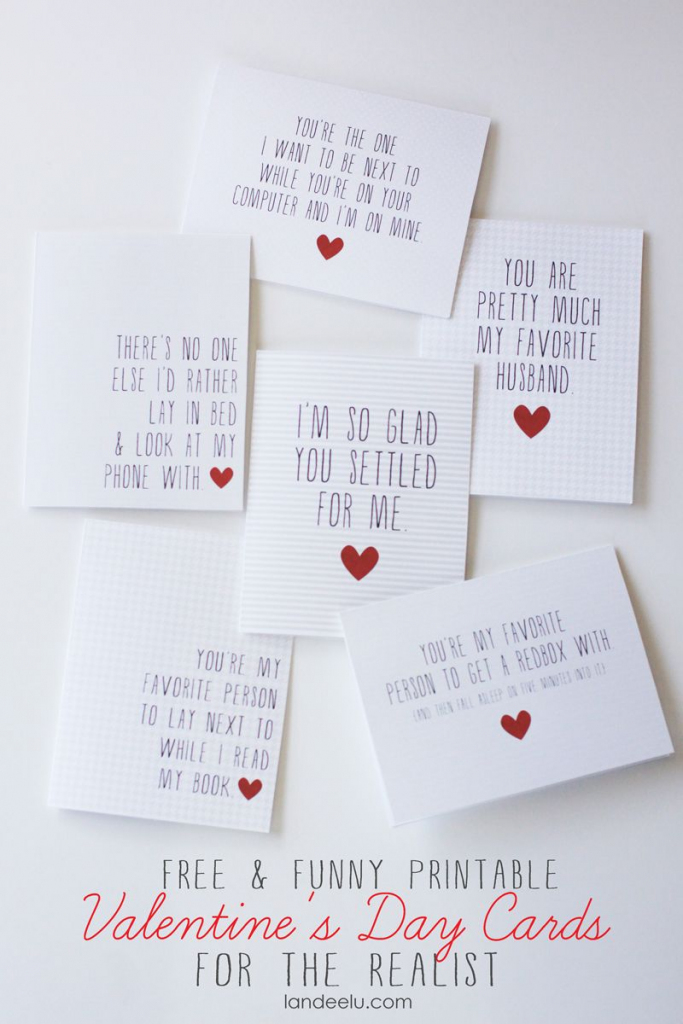 Funny Printable Valentine's Day Cards   Valentines Day   Funny   Free Printable Valentines Day Cards For Her
