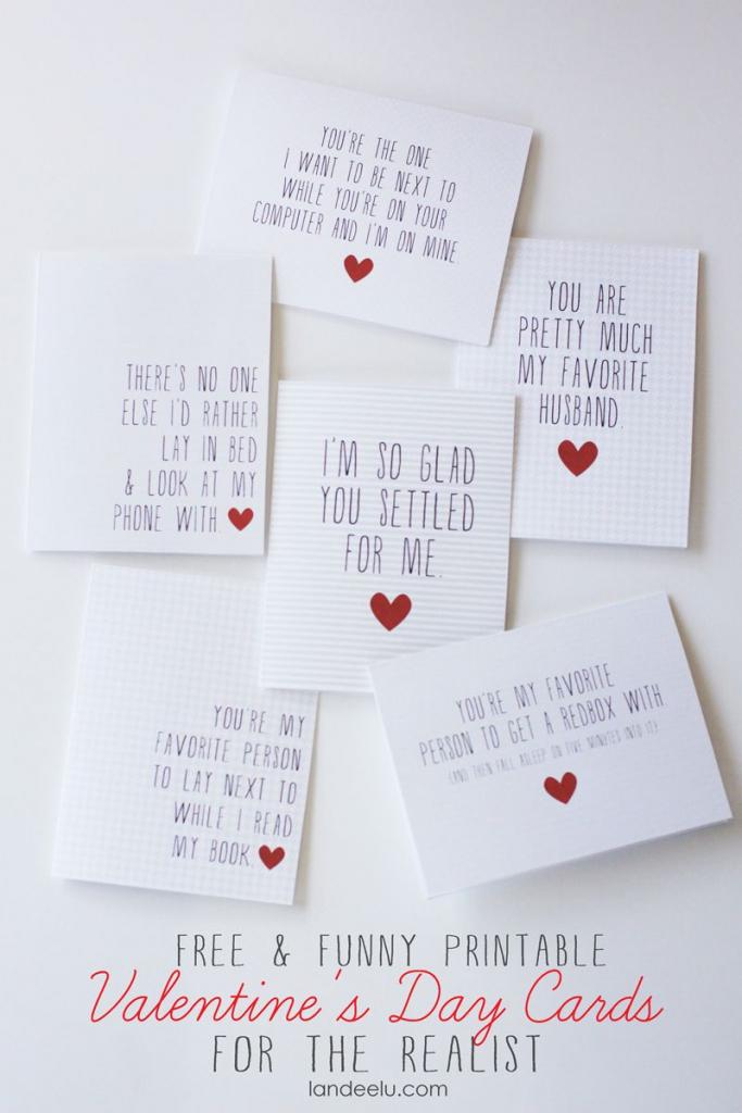 Funny Printable Valentine's Day Cards   Valentines Day   Funny   Printable Valentines Day Cards For Husband