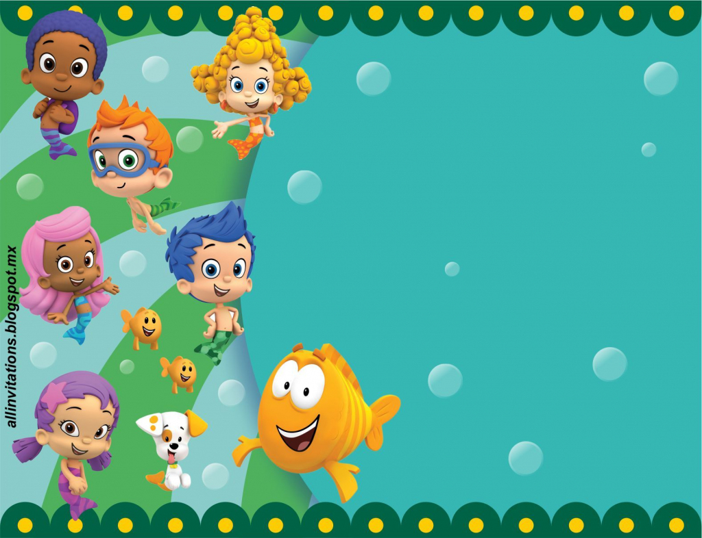 Get Free Printable Bubble Guppies Baby Shower Invitation Ideas | Bubble Guppies Printable Birthday Cards