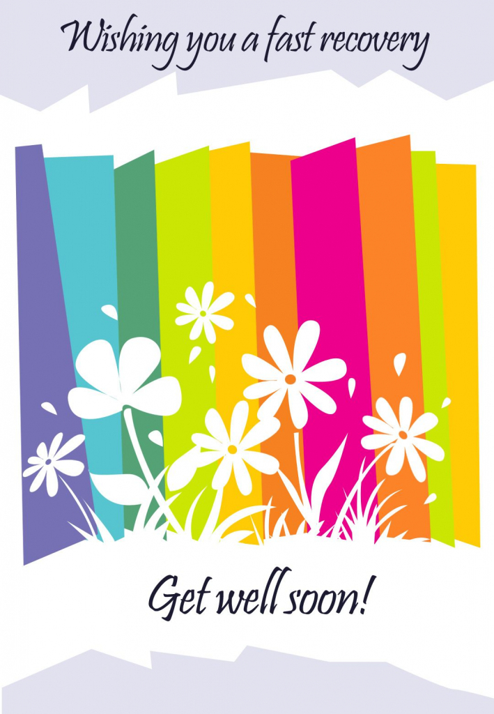 Get Well #card Free Printable - Fast Recovery Flowers Greeting Card | Speedy Recovery Cards Printable