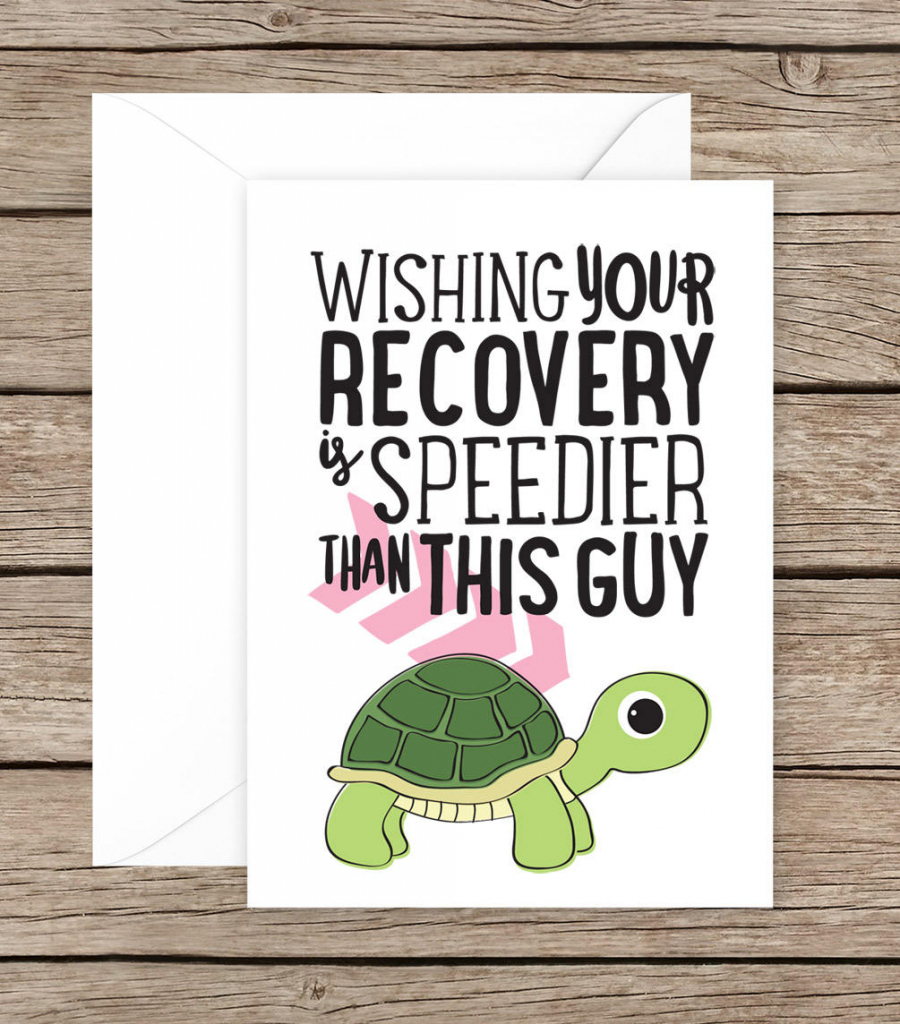 Get Well Soon Card Speedy Recovery Card Recovery Card | Etsy | Speedy Recovery Cards Printable