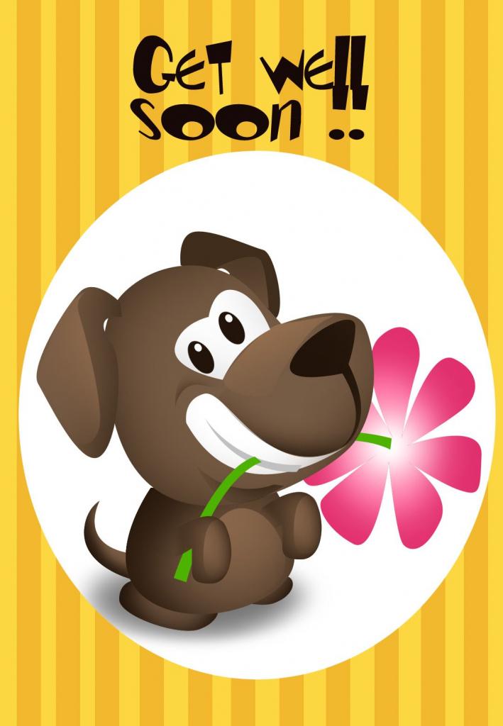 Get Well Soon Free Printable Get Well Soon Puppy Greeting Card | Free Printable Get Well Cards