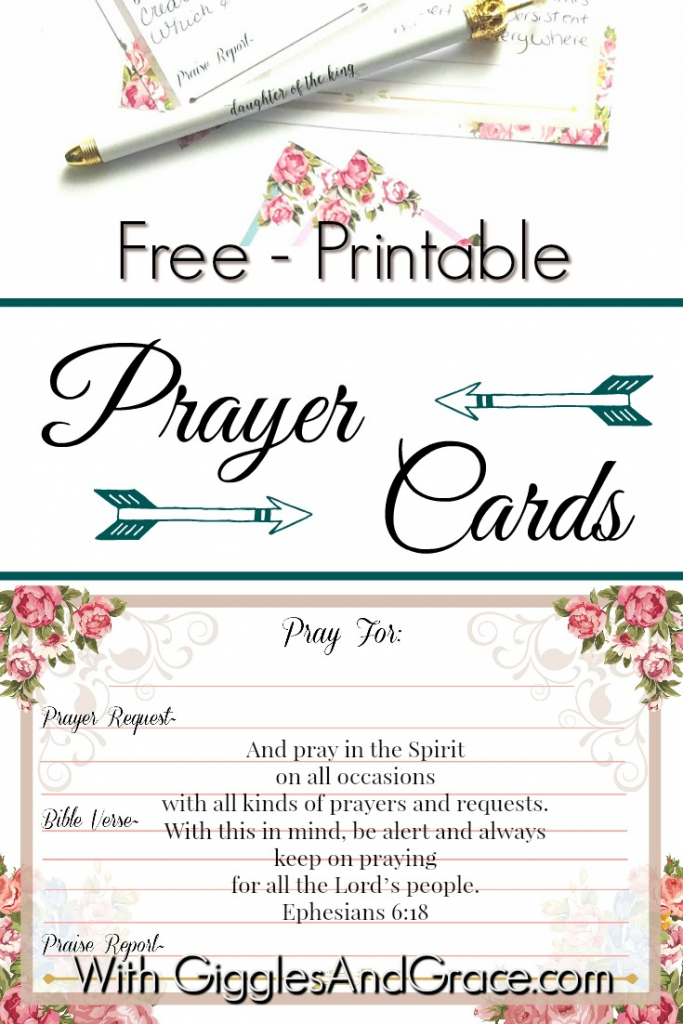 Get Your Free Printable Prayer Cards - With Giggles & Grace   Printable Prayer Request Cards