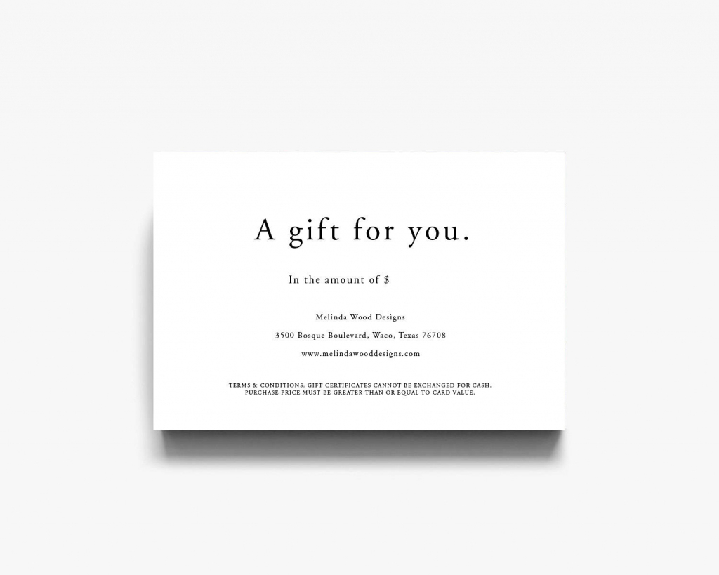 Gift Certificate Template Gift Voucher Gift Template   Etsy   Printable Gift Card Template