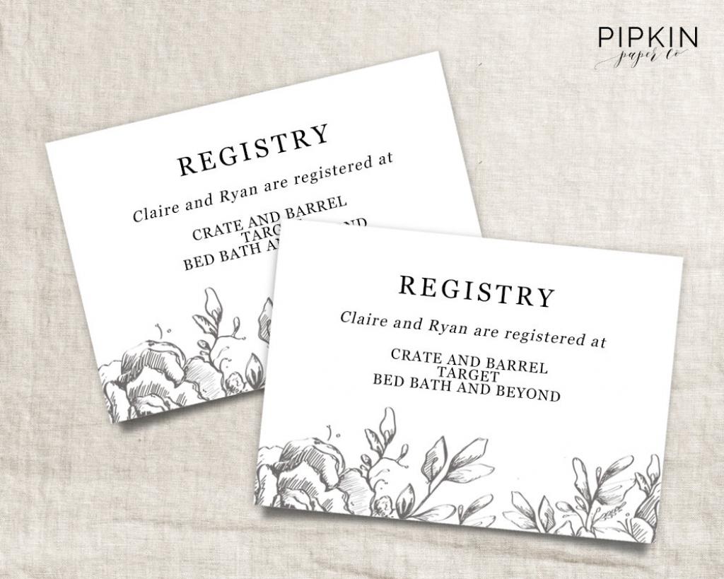 Gift Registry Template Free - Kleo.bergdorfbib.co | Free Printable Registry Cards