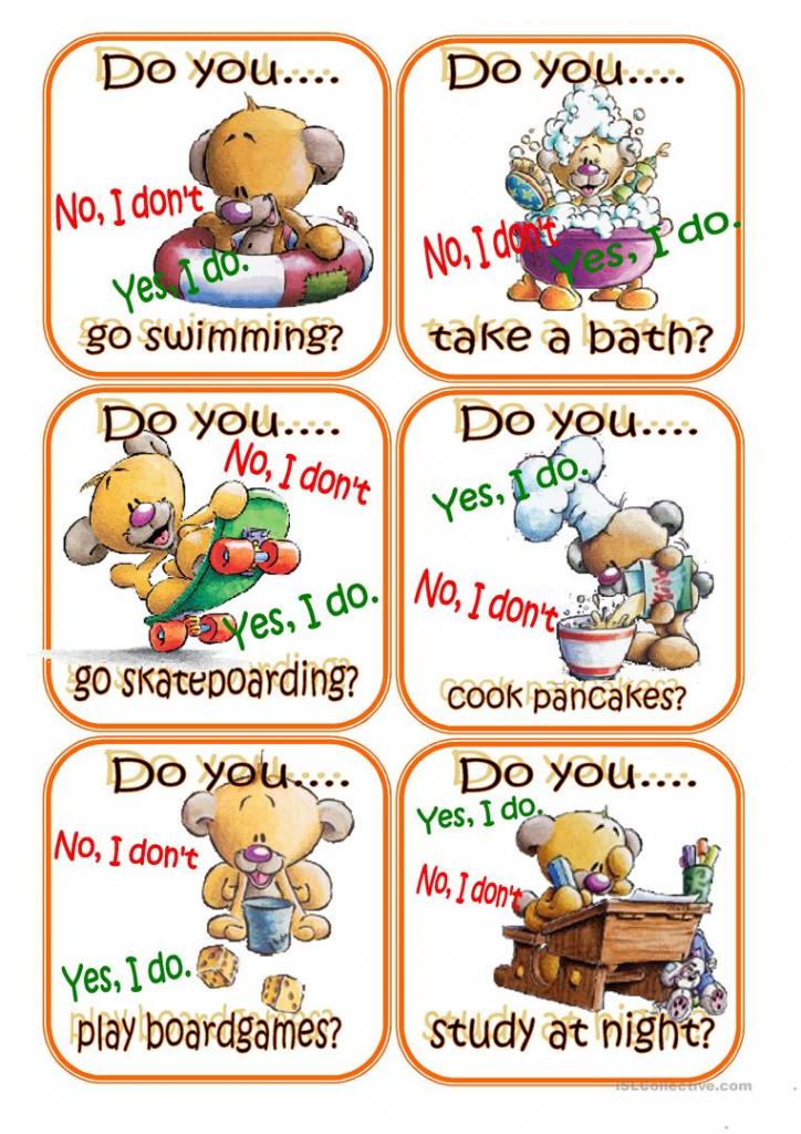 Go Fish Present Simple Worksheet - Free Esl Printable Worksheets   Printable Go Fish Cards
