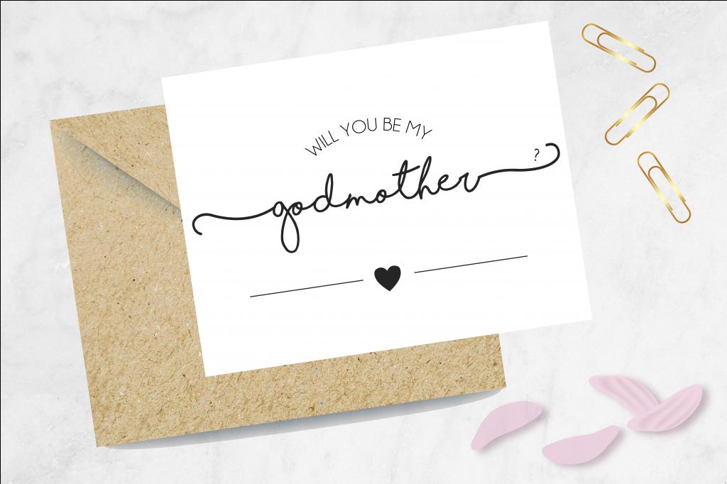 Godmother Proposal Card, Be My Godmother Card, Card For Godmother | Will You Be My Godmother Printable Card Free