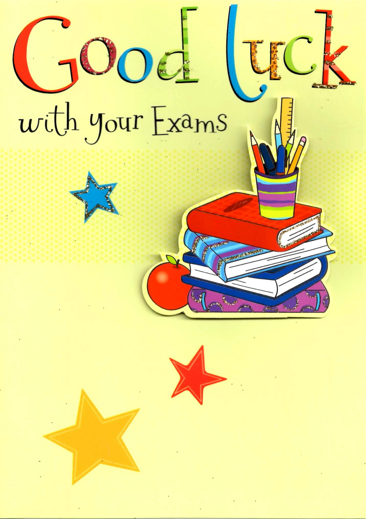 Good Luck With Your Exams Greeting Card | Cards | Good Luck Greeting Cards Printable
