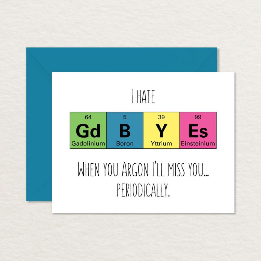 Goodbye Card Printable / Funny Goodbye Card / Nerdy Goodbye | Etsy | Printable Goodbye Cards For Students
