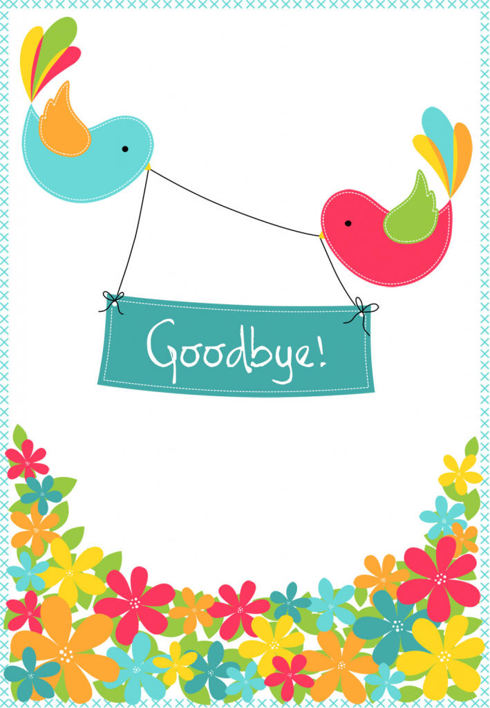 Goodbye Cards Printable Free - Kleo.bergdorfbib.co | Printable Goodbye Cards For Students