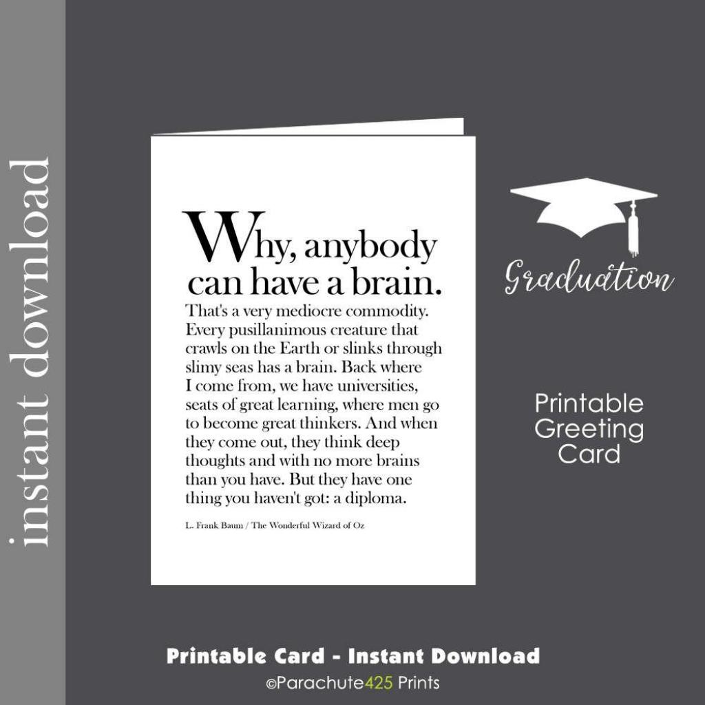 Graduation Card, Graduation Printable, Printable Card, Funny | High School Graduation Cards Printable