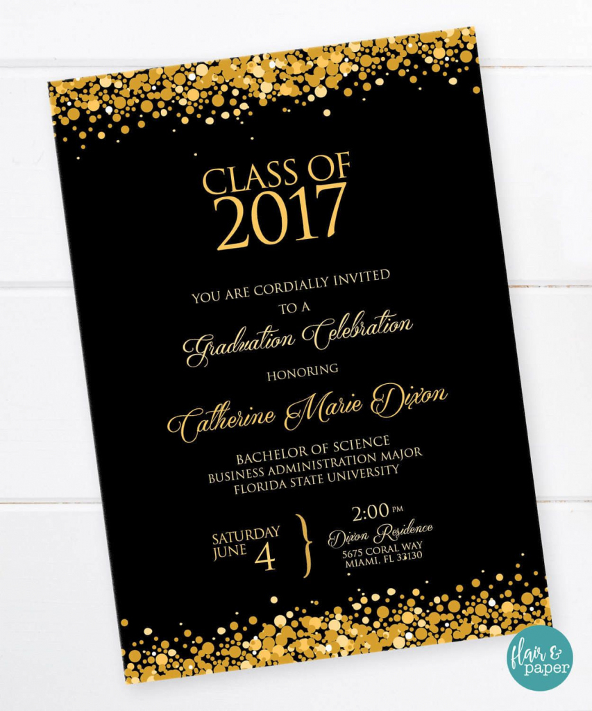Graduation Invitation, Graduation Celebration, College Graduation | Graduation Invitation Cards Printable
