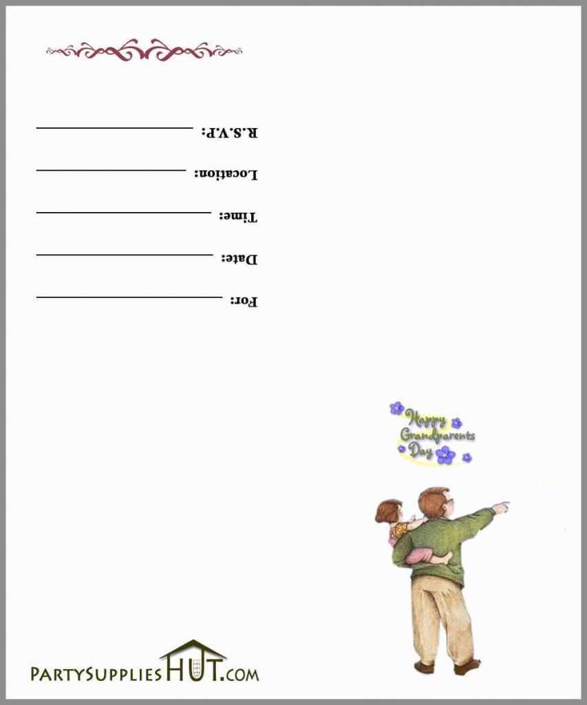 Grandparents Day Invitation Cards Printable Wonderfully Free | Grandparents Day Invitation Cards Printable