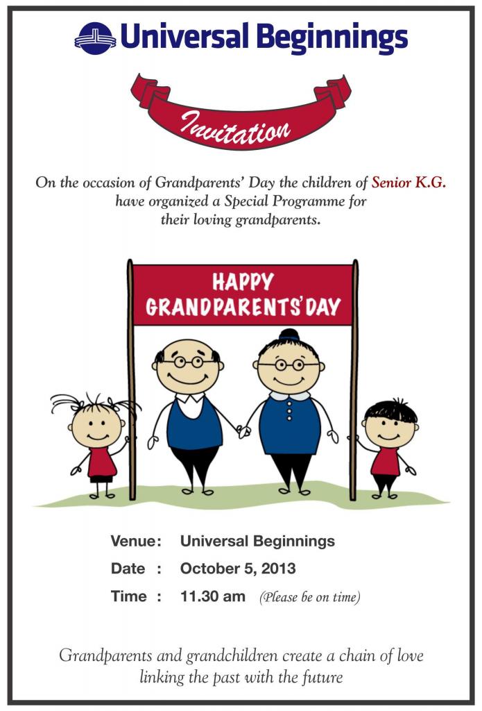 Grandparents Day Invitation Templates | Grandparents Day Invitation Cards Printable
