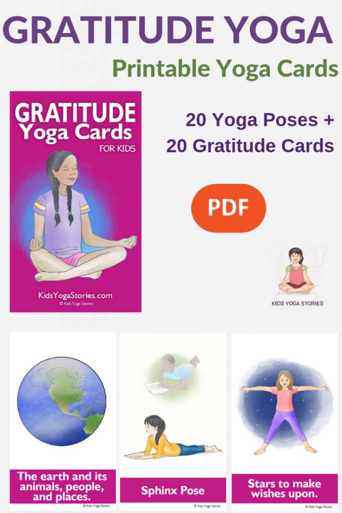 Gratitude Yoga Cards For Kids   Interesting..   Yoga For Kids   Printable Yoga Cards For Kids