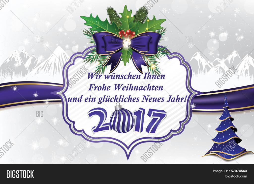 Greeting Card Year Image & Photo (Free Trial)   Bigstock   Free Printable German Christmas Cards