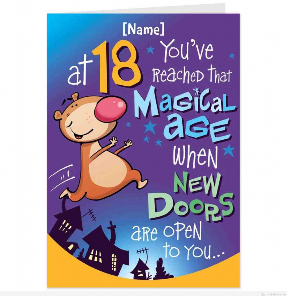 Guy Birthday Card Etsy, Birthday Card. Choisrus Happy Birthday, Son   Funny 18Th Birthday Cards Printable