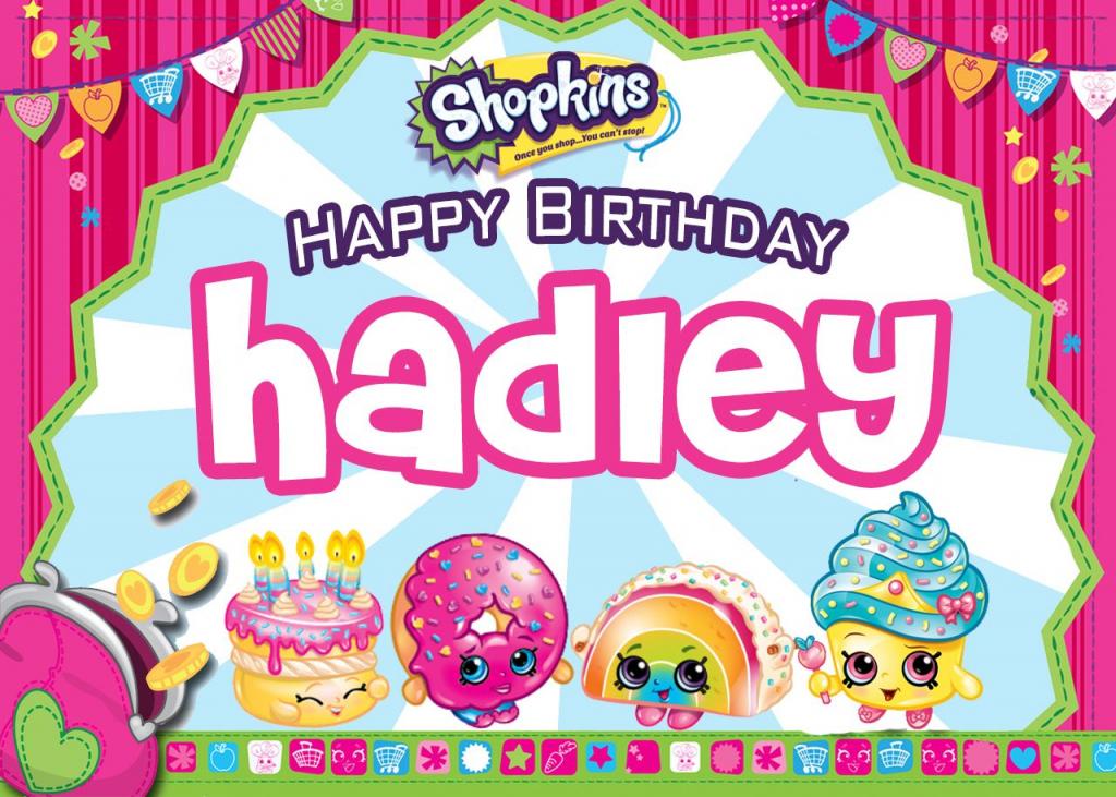 Hadley's Birthday Card #shopkinsbirthday - Free Blank Printable   Printable Shopkins Birthday Card