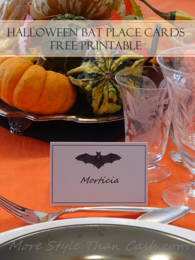 Halloween Bat Place Cards | Free Printable Halloween Place Cards