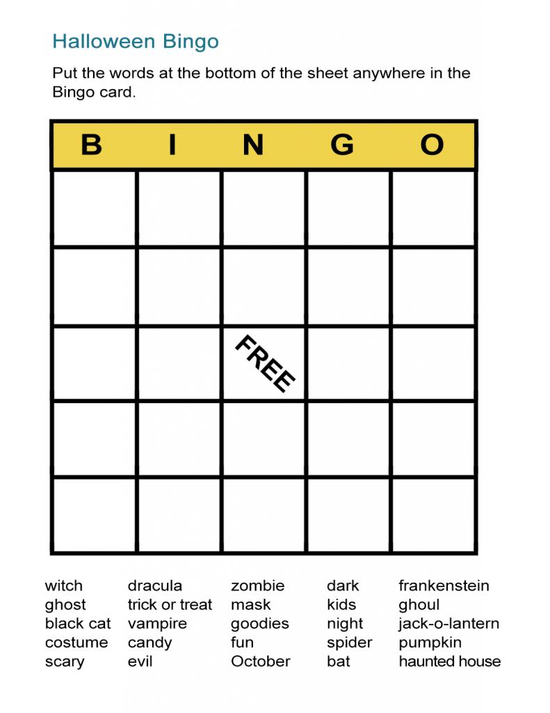 Halloween Bingo Cards: Printable Bingo Games For Class - All Esl   Vocabulary Bingo Cards Printable