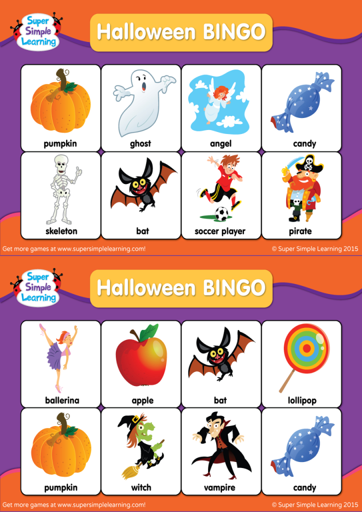 Halloween Bingo Cards - Super Simple | Fun Printable Halloween Bingo Cards