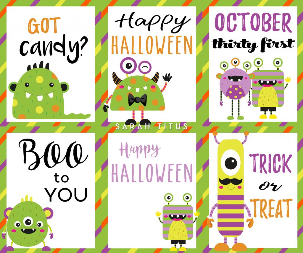 Halloween Free Printable Cards - Sarah Titus   Printable Halloween Cards To Color For Free