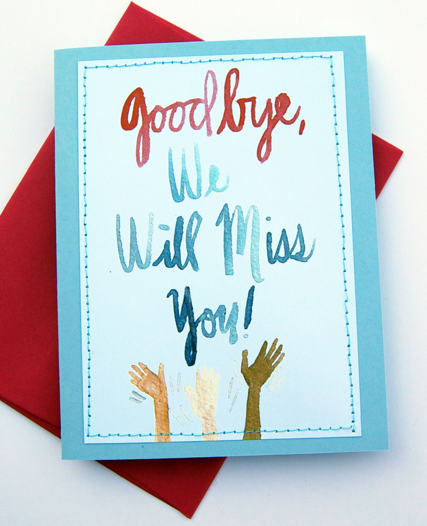 Handmade Card Design Blog. We Will Miss You Cards | Card Ideas | Free Printable We Will Miss You Greeting Cards