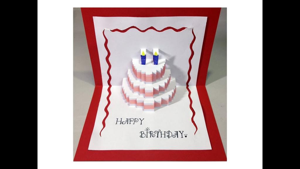 Happy Birthday Cake - Pop-Up Card Tutorial - Youtube | Free Printable Birthday Pop Up Card Templates