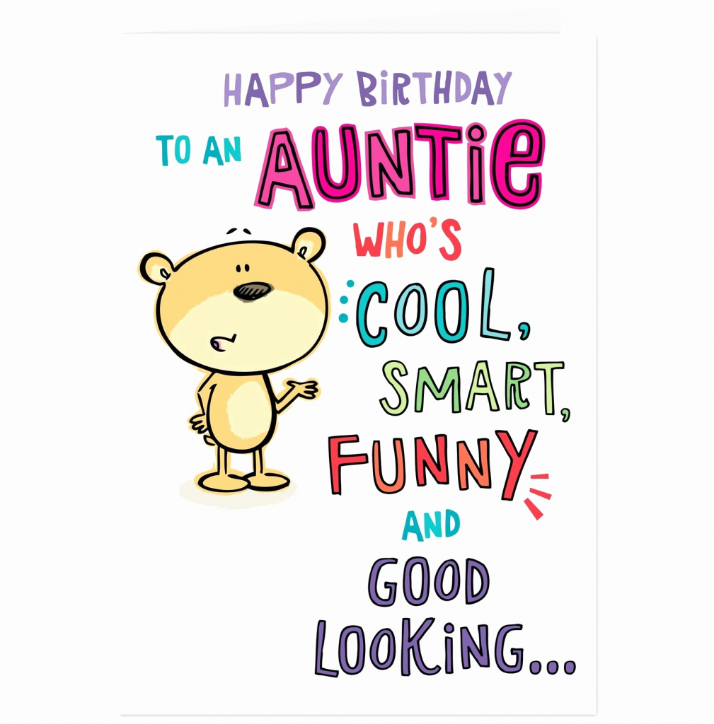 Happy Birthday Card For Aunt Plus Auntie Funny E Cards Free Unique   Birthday Cards For Aunt Printable