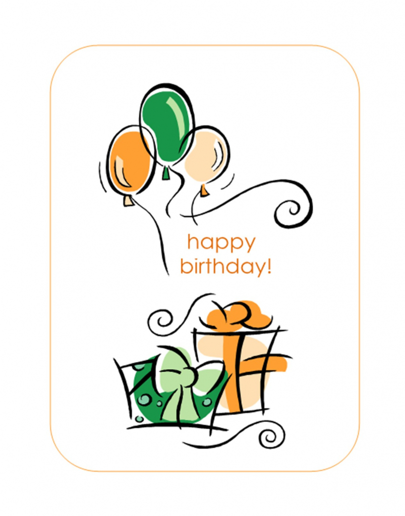 Happy Birthday Card (With Balloons, Quarter-Fold) | The Office Printable Birthday Card