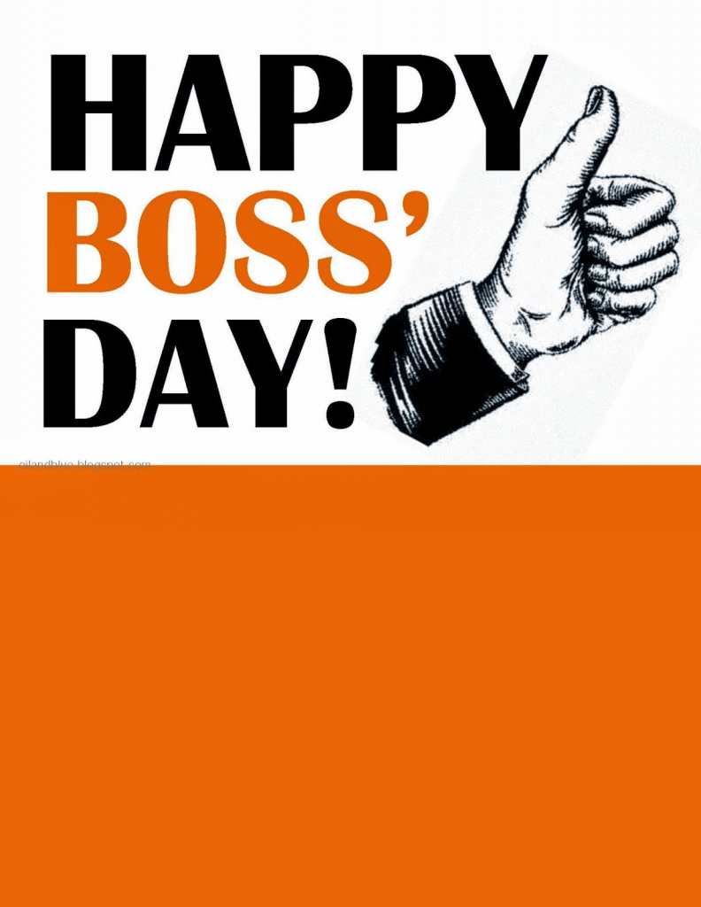 Happy Boss Day Card | Printable Funny Bosses Day Cards