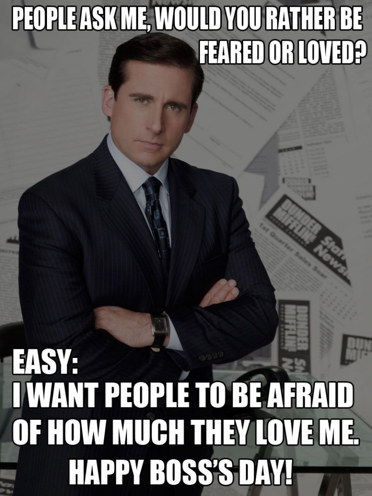 Happy Boss's Day / Michael Scott / The Office / #theoffice / Steve | Printable Funny Bosses Day Cards