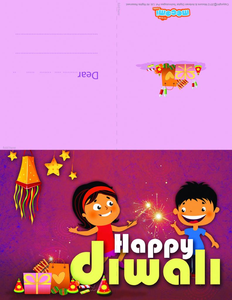 Happy Diwali - Diwali Greeting Card For Kids | Mocomi | Printable Greeting Cards For Kids