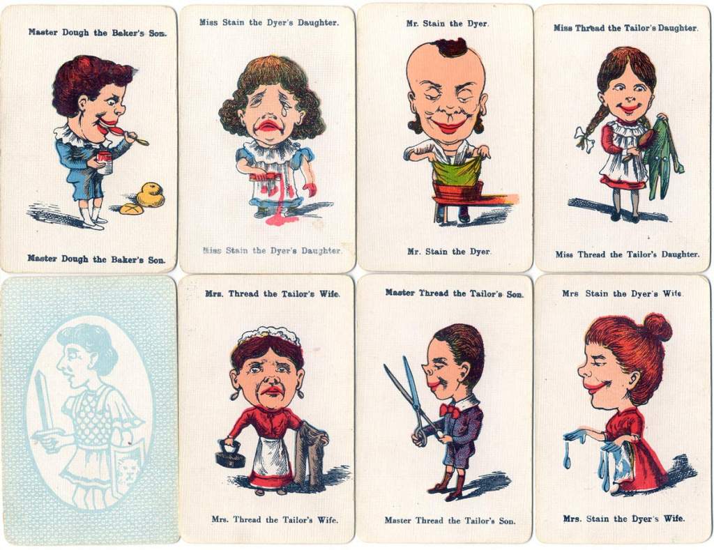 Happy Families - The World Of Playing Cards | Happy Families Card Game Printable