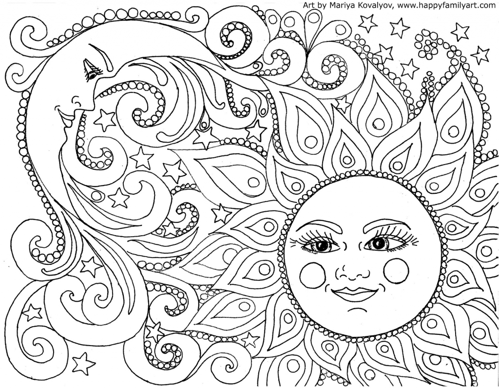 Happy Family Art - Original And Fun Coloring Pages   Free Printable Coloring Cards For Adults