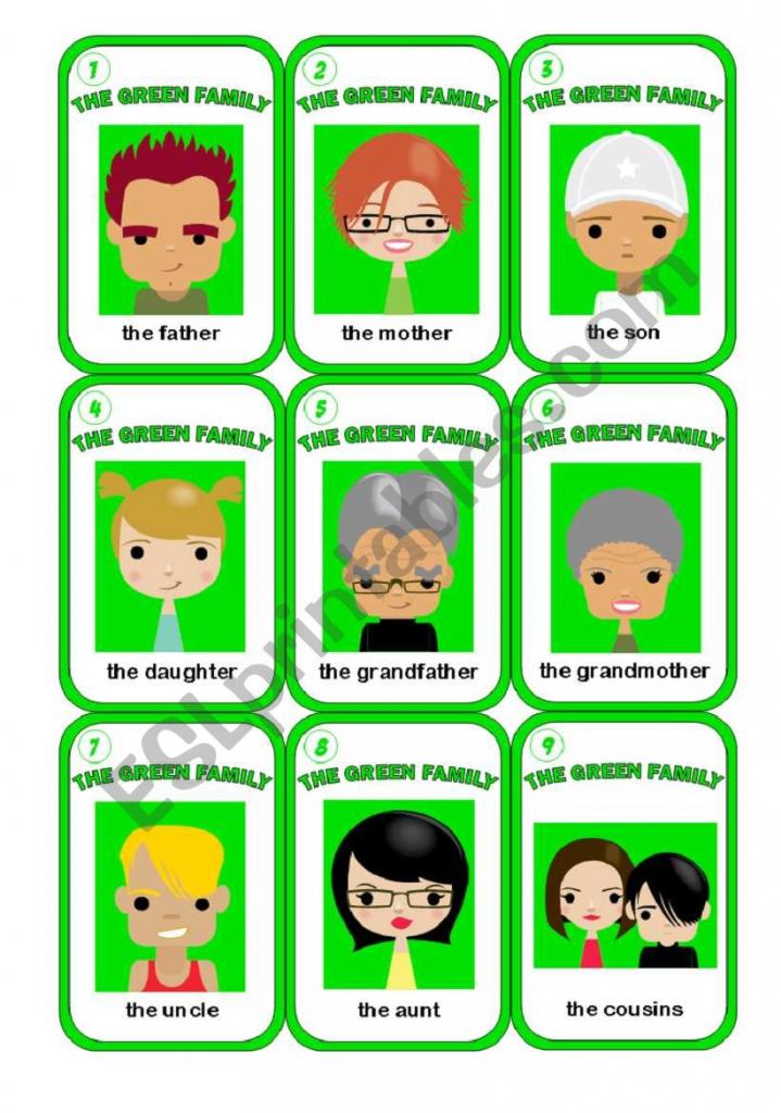 Happy Family Game 2/3 - Esl Worksheetmorrisons Eyes | Happy Families Card Game Printable