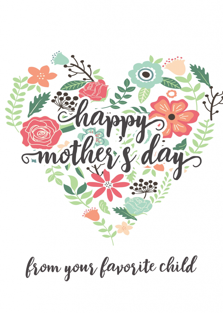 Happy Mothers Day Messages Free Printable Mothers Day Cards | Make Mother Day Card Online Free Printable