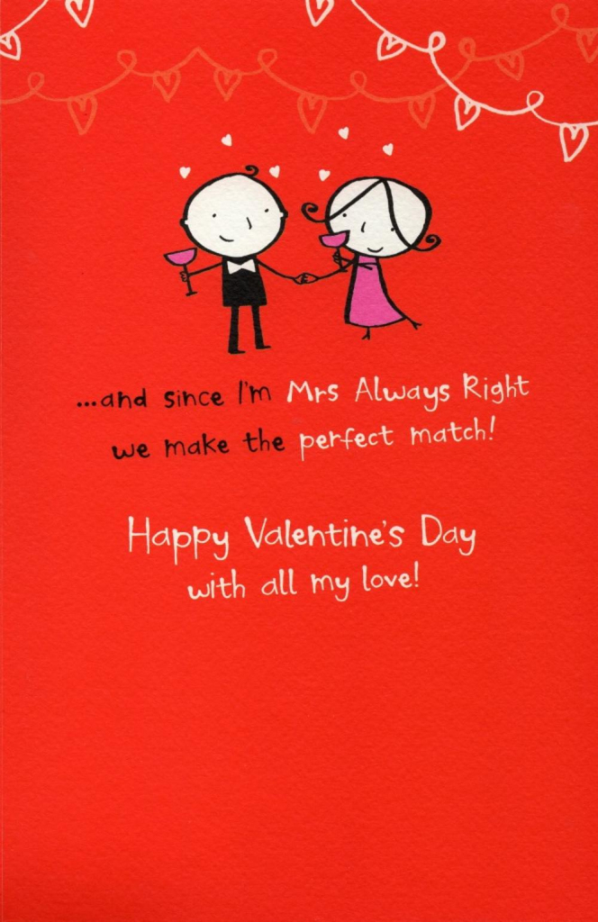 Happy Valentine Day Cards | Funny Printable Valentine Cards For Husband