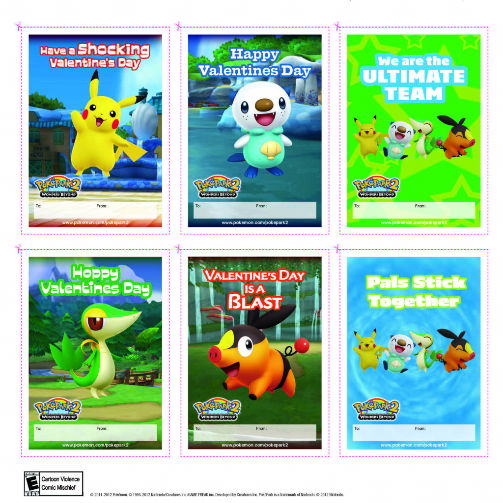Happy Valentine's Day From Pokémon | Pokevalentines C: | Printable | Pokemon Valentine Cards Printable