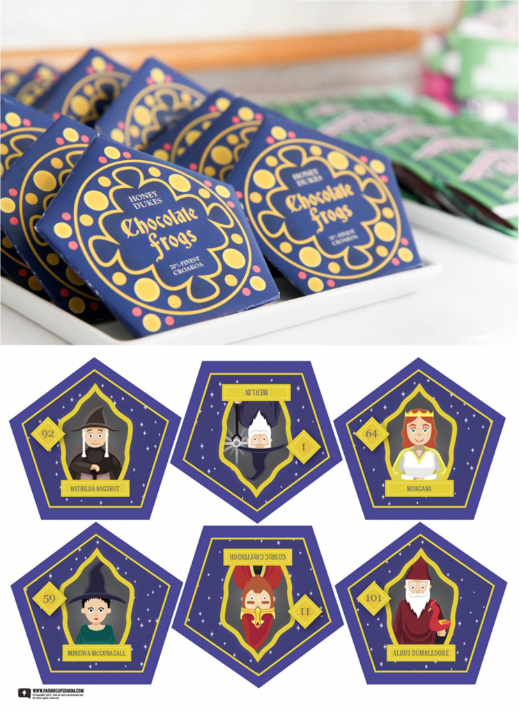 Harry Potter Chocolate Frogs - Free Printable Template For Diy   Harry Potter Chocolate Frog Cards Printable