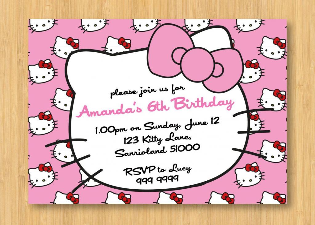 Hello Kitty Birthday Invitations Printable Free – Invitation | Hello Kitty Christmas Cards Free Printables