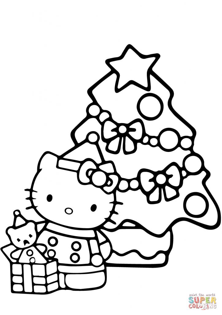 Hello Kitty Christmas Coloring Page | Free Printable Coloring Pages | Hello Kitty Christmas Cards Free Printables
