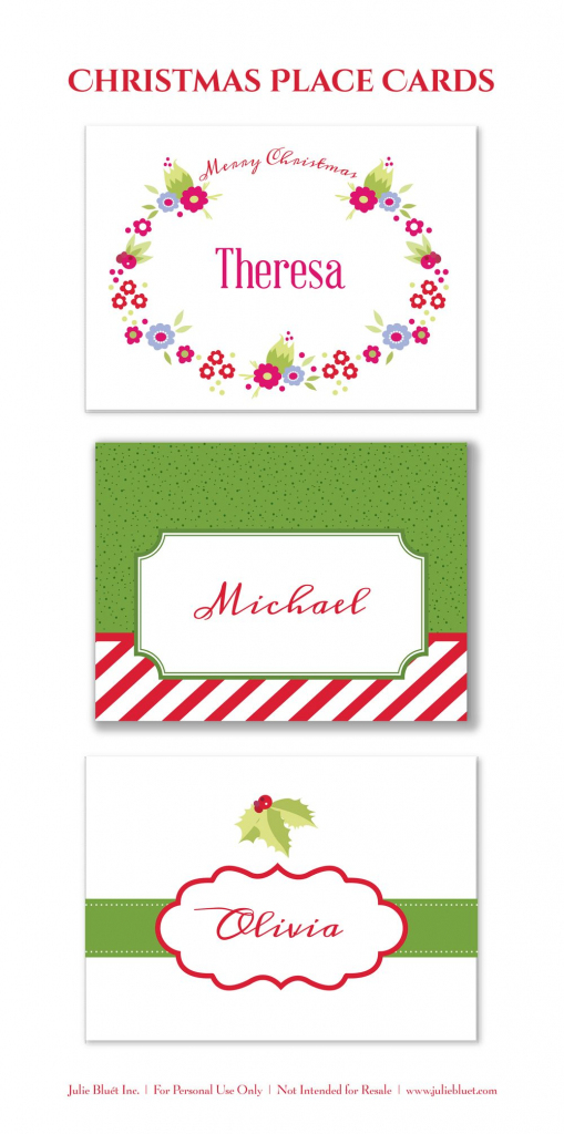Here Are Three Free Printable Christmas Place Cards For Your Holiday | Printable Christmas Place Cards